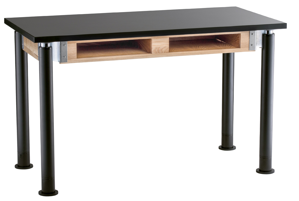 NPS Height Adjustable Phenolic Top Science Table with Book Compartment