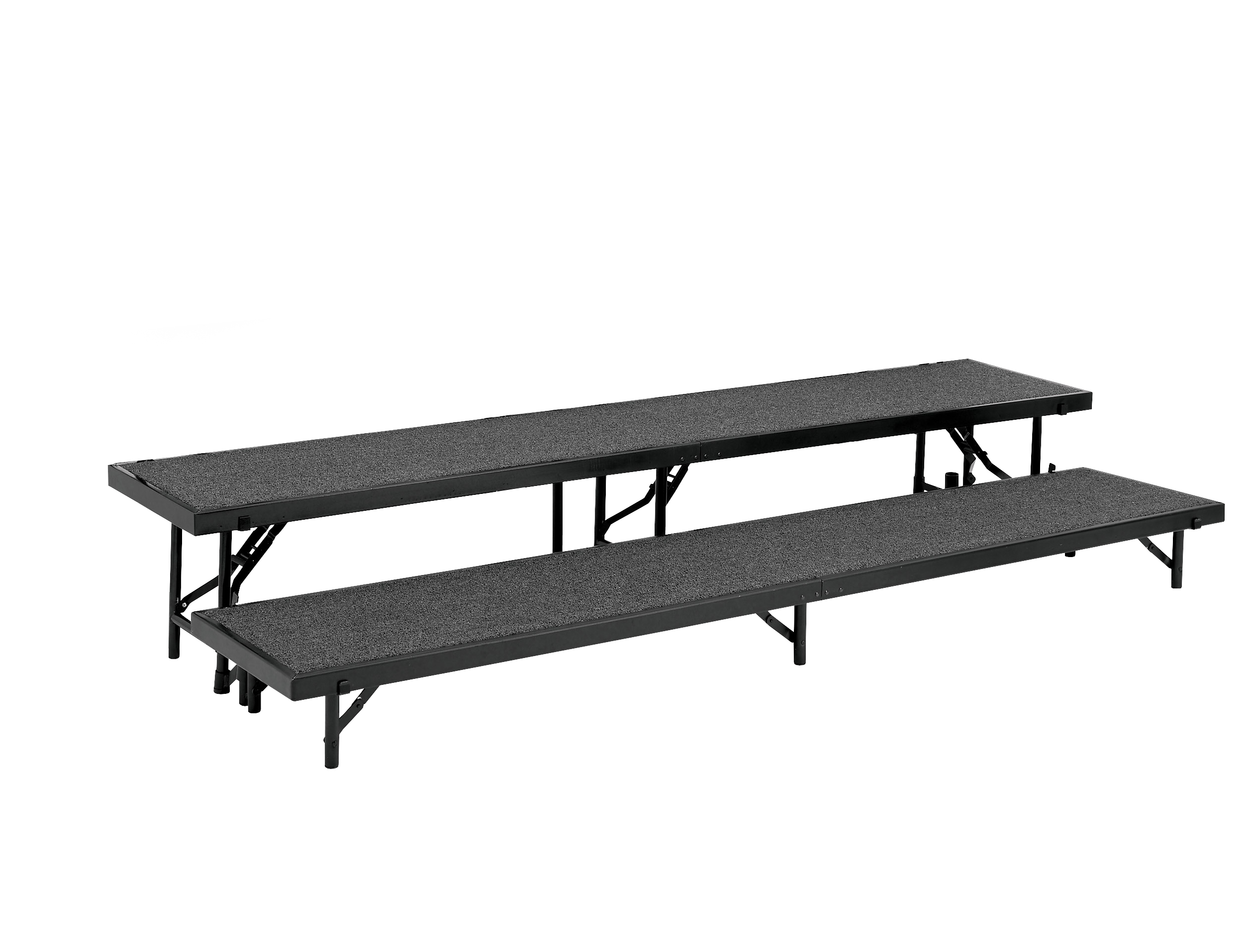 """NPS 2 Level 18"""" W x 96"""" Portable Carpeted Riser"""
