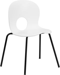 "HUSKY Seating® 800 LB Indoor-Outdoor Modern ""EGG"" Stacking Chair"