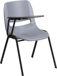 Ergonomic Shell Chair with Right Handed Flip Tablet