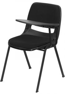 Padded Ergonomic Chair with Left Handed Flip Tablet Arm
