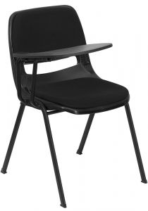 Padded Ergonomic Chair with Right Handed Flip Tablet Arm