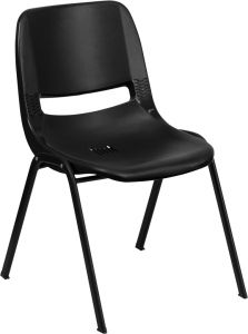 "Kindergarten - 2nd Grade 14"" H Stack Chair with Black Frame"