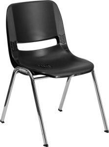 """3rd, 4th, 5th, 6th, 7th Grade 16"""" H Stack Chair with Chrome Frame"""
