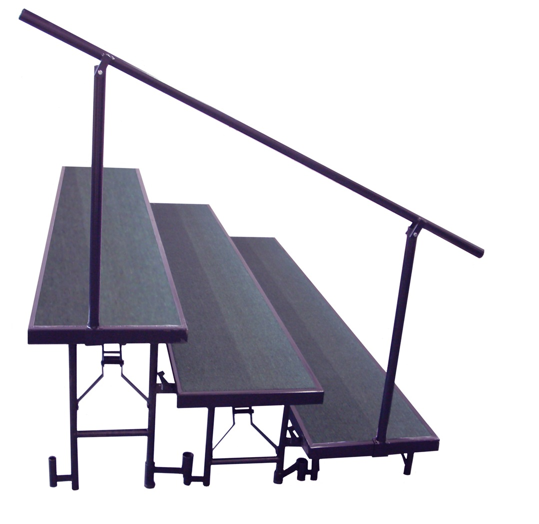 NPS Side Guard Rails for 3 Level Standing Risers