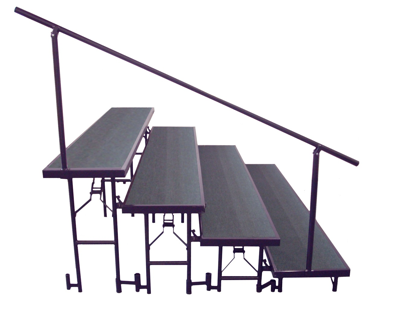 NPS Side Guard Rails for 4 Level Standing Risers
