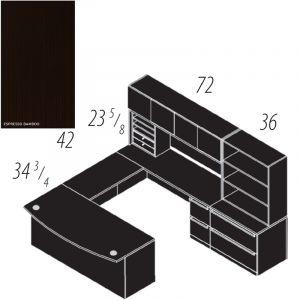 "Cherryman Verde Series U-Desk, 42"" Bridge, Multi-Pedestal, Lateral File, Storage Hutch, Organizer, & Bookcase"