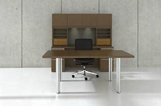 Cherryman Verde Series Rectangular Desk & Storage Hutch with Dual Pedestals & Organizers
