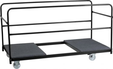 """Carpeted Folding Table Dolly for 72"""" Round Tables"""