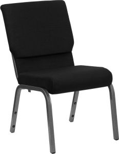 HUSKY Seating® 800 LB Heavy Duty Stacking & Ganging Auditorium Chair - Silver Vein