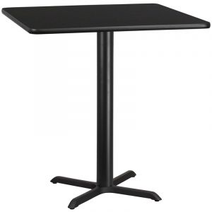 "HUSKY Seating® Commercial 42"" Square Laminate Restaurant Table & X Base"