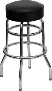 HUSKY Seating® Heavy Duty Steel 500 LB Metal Bar Stool with Chrome Frame & Swivel Seat