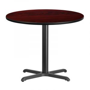 HUSKY Seating® Commercial Resin Round Table Top & Standard Height Base