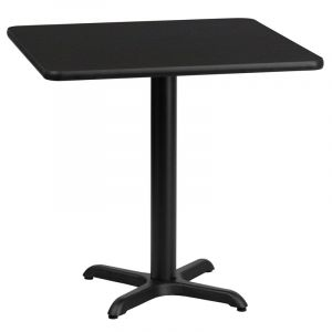 """HUSKY Seating® Commercial 24"""" Square Laminate Restaurant Table & X Base"""
