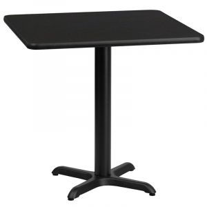 "HUSKY Seating® Commercial 30"" Square Laminate Restaurant Table & X Base"