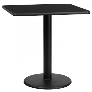 """HUSKY Seating® Commercial 30"""" Square Laminate Restaurant Table & Round Base"""