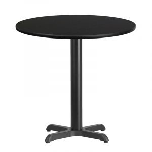 "HUSKY Seating® Commercial 30"" Round Laminate Restaurant Table & X Base"