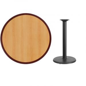 HUSKY Seating® Commercial Round Two-Tone Restaurant Table & Round Base