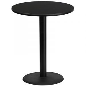 """HUSKY Seating® Bar Height Commercial 36"""" Round Laminate Restaurant Table & Round Base"""