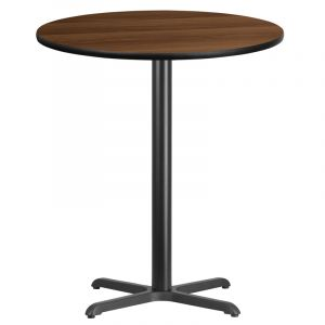 HUSKY Seating® Commercial Resin Round Table Top & Bar Height Base