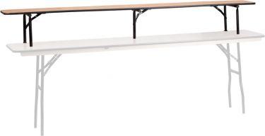 """96"""" L X 12"""" W X 12"""" H Folding Wood Bar Top Riser"""