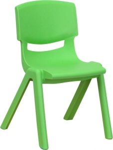 """Stackable Plastic School Chair with 12"""" Seat Height"""
