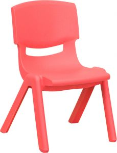 """Stackable Plastic School Chair with 10.5"""" Seat Height"""
