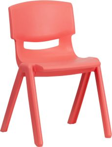"""Stackable Plastic School Chair with 13.25"""" Seat Height"""