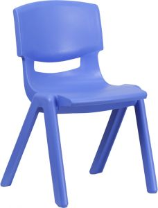 """Stackable Plastic School Chair with 15.5"""" Seat Height"""