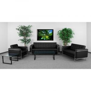 Ares Series Leather 3 Piece Sofas & Chair Lounge Set
