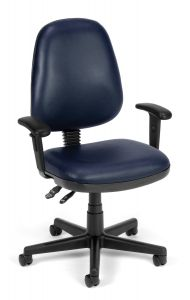Ergonomic Vinyl Anti-Bacterial Task Office Chair with Arms by OFM