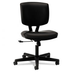 Hon Black Leather Volt Series Task Chair with Swivel