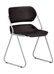 4 PACK Armless Martisa Series Plastic Stacking Chair with Silver Frame by OFM