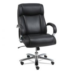 Alera 24/7 Mult-Shift 500 lb Big & Tall CoolSit Leather Executive Chair with Coil Springs