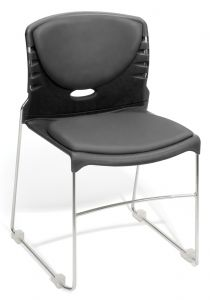 4 PACK OFM Hospitality Series Anti-Microbial/Anti-Bacterial Vinyl Stacking Chair
