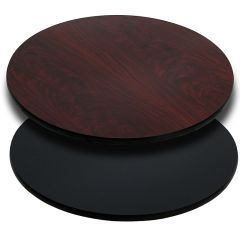 Pro-Tough Commercial Reversible Black Or Mahogany Round Table Top