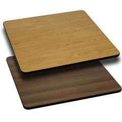 Pro-Tough Commercial Reversible Natural or Walnut Square Table Top