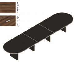 """Cherryman Amber Series 48 """" x 192 """" Modular Racetrack Conference Table"""
