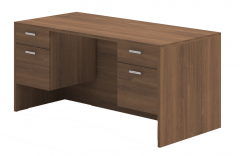 Amber Series Double Suspended Pedestal Desk