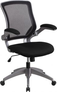 Designer Mid-Back Mesh Task Chair with Flip Up Arms