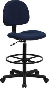 Adjustable Height Drafting Chair With Adjustable Foot Ring
