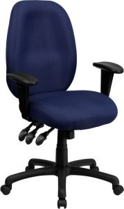 High Back Ergonomic Task Swivel Chair with Adjustable Arms