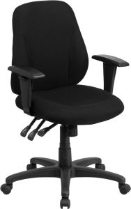 Multi-Functional Fabric Ergonomic Mid Back Task Chair with Arms