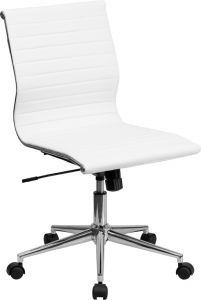 Modern Mid Back Office Chair with Chrome base