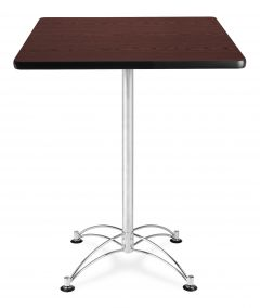 "OFM 30"" Square Chrome X Base Cafe Table"