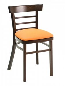 Florida Seating ECO-05S Ladder Back Wood Restaurant Chair