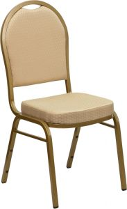 HUSKY Seating® 500 LB Traditional Stacking Banquet Restaurant Chair with Patterned Fabric Upholstery