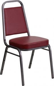 HUSKY Seating® Burgundy Vinyl Commercial Banquet Chair with Thick Seat