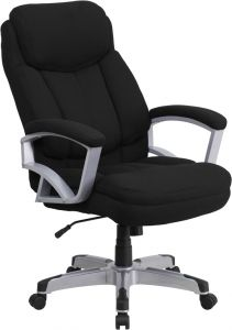 Heavy Duty 500 lb. Capacity Big & Tall Black Fabric Office Chair with Lumbar Support