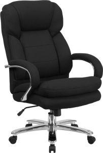 Samson Series Big & Tall 500 lb Black Fabric Executive Office Chair